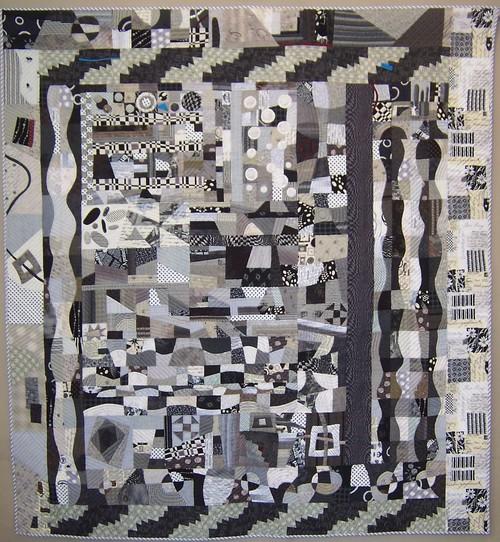 Black & white sampler quilt
